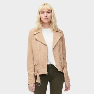 UGG Stacey Suede Real Leather Moto Jacket Large